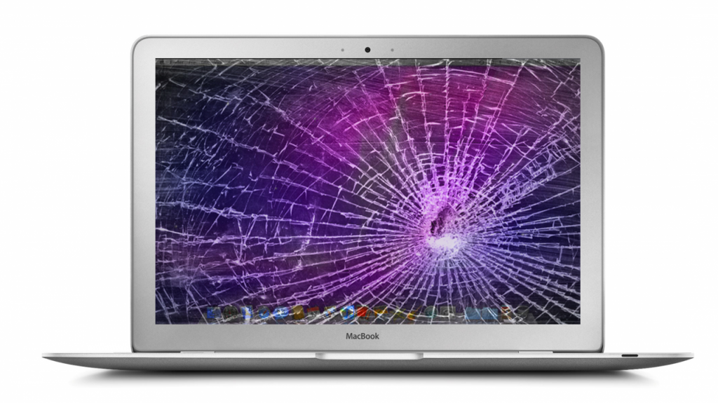 Shattered MacBook screen
