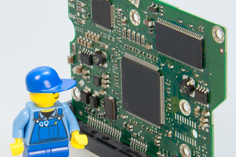 Lego electrician and computer parts