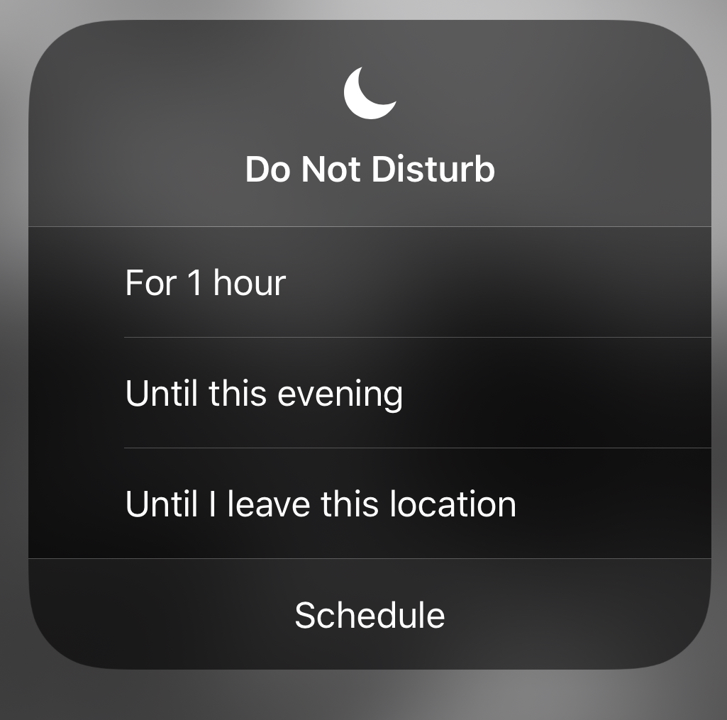 Do not disturb setting on iPhone