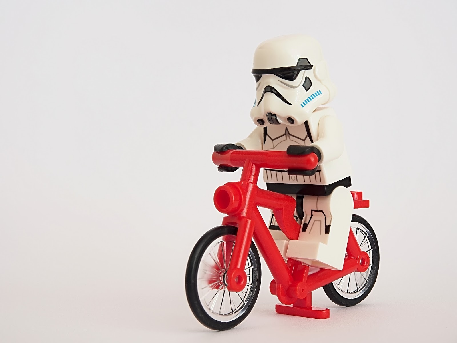 Storm trooper on a bike