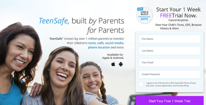 Teensafe screenshot