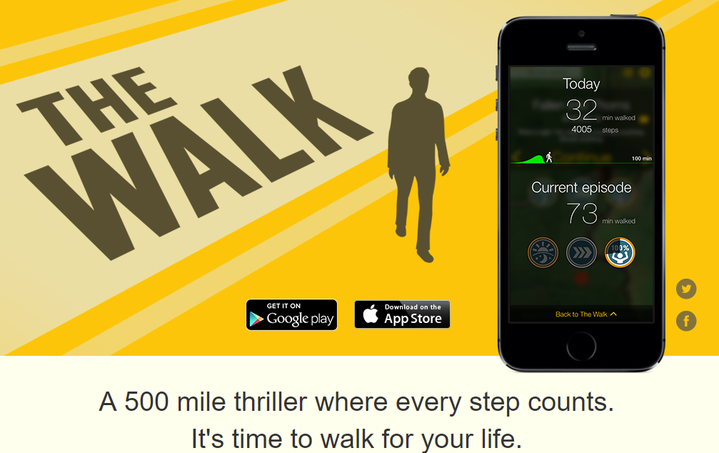 The Walk is among many popular fitness apps, that promotes exercise and healthy habits.